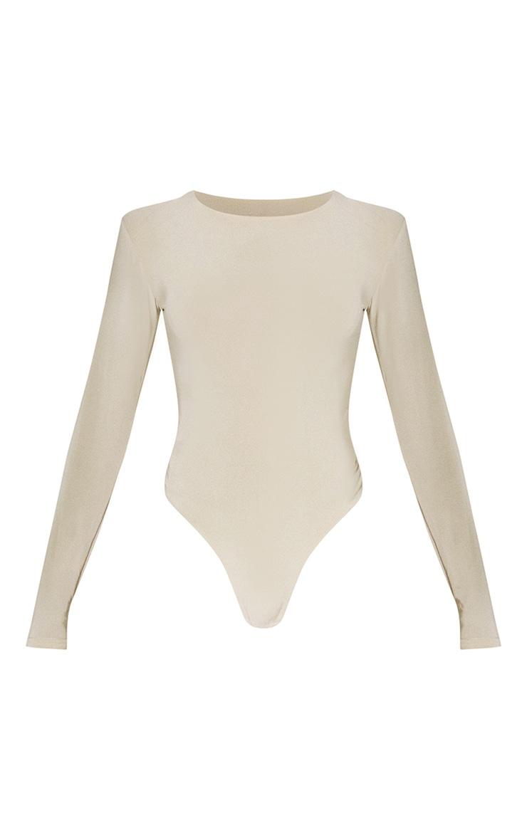 Second Skin Pearl Crew Neck Long Sleeve Bodysuit 5