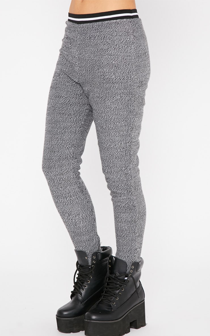 Hollie Grey Sporty Knitted Joggers 4