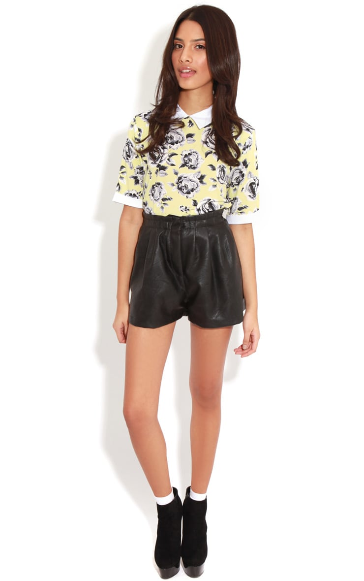 Elizabeth Yellow Floral Collar Top 3