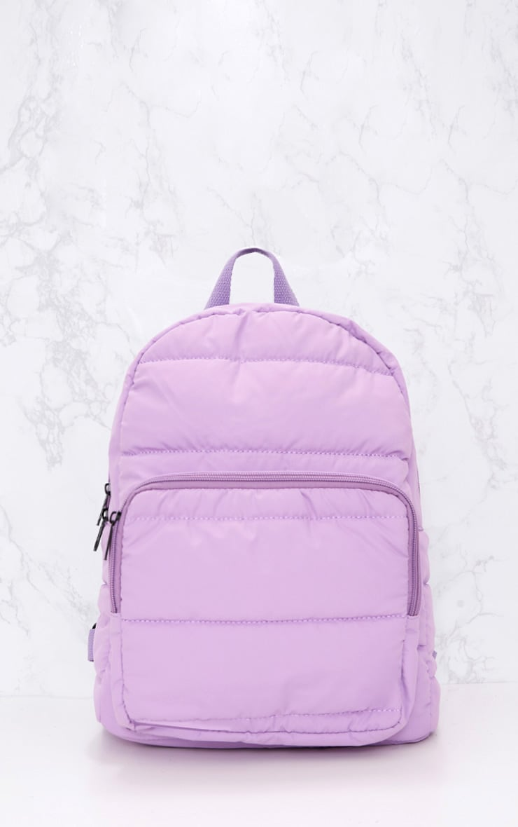 PrettyLittleThing Lilac Backpack 1