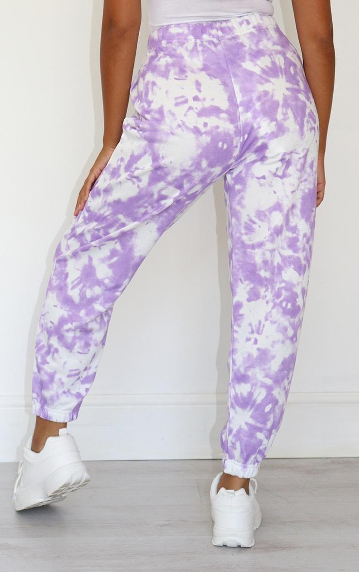Petite Lilac Tie Dye Joggers 3