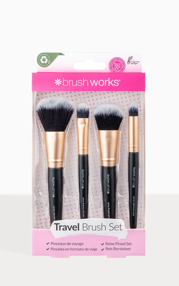 Brushworks Travel Makeup Brush Set 4