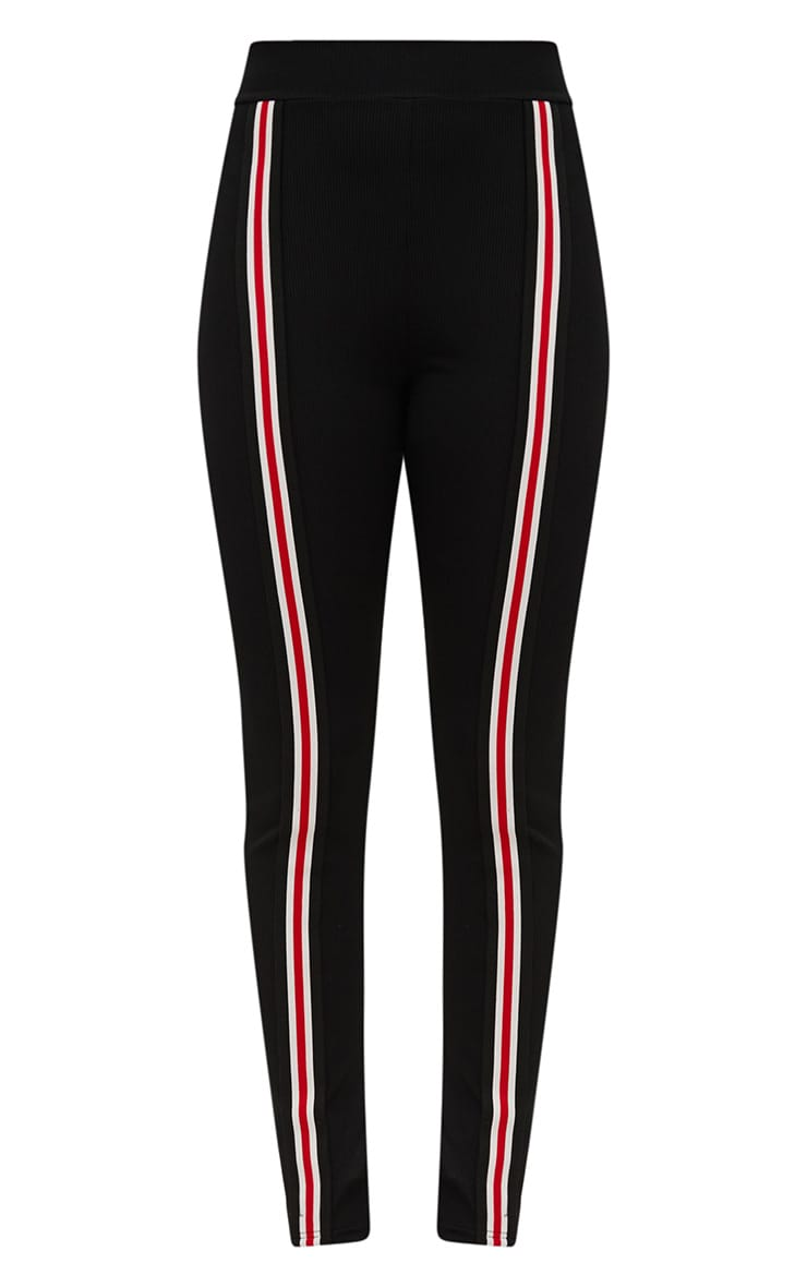 Black Track Stripe Fitted Jogger 3