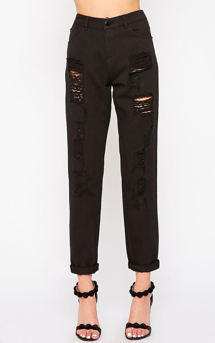 Kada Black Extreme Rip Jeans 2