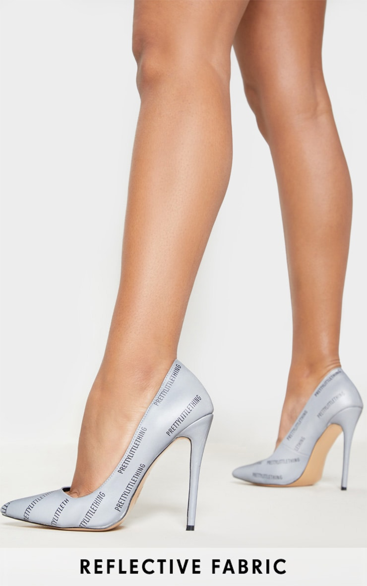 PRETTYLITTLETHING Reflective Court Shoes 1