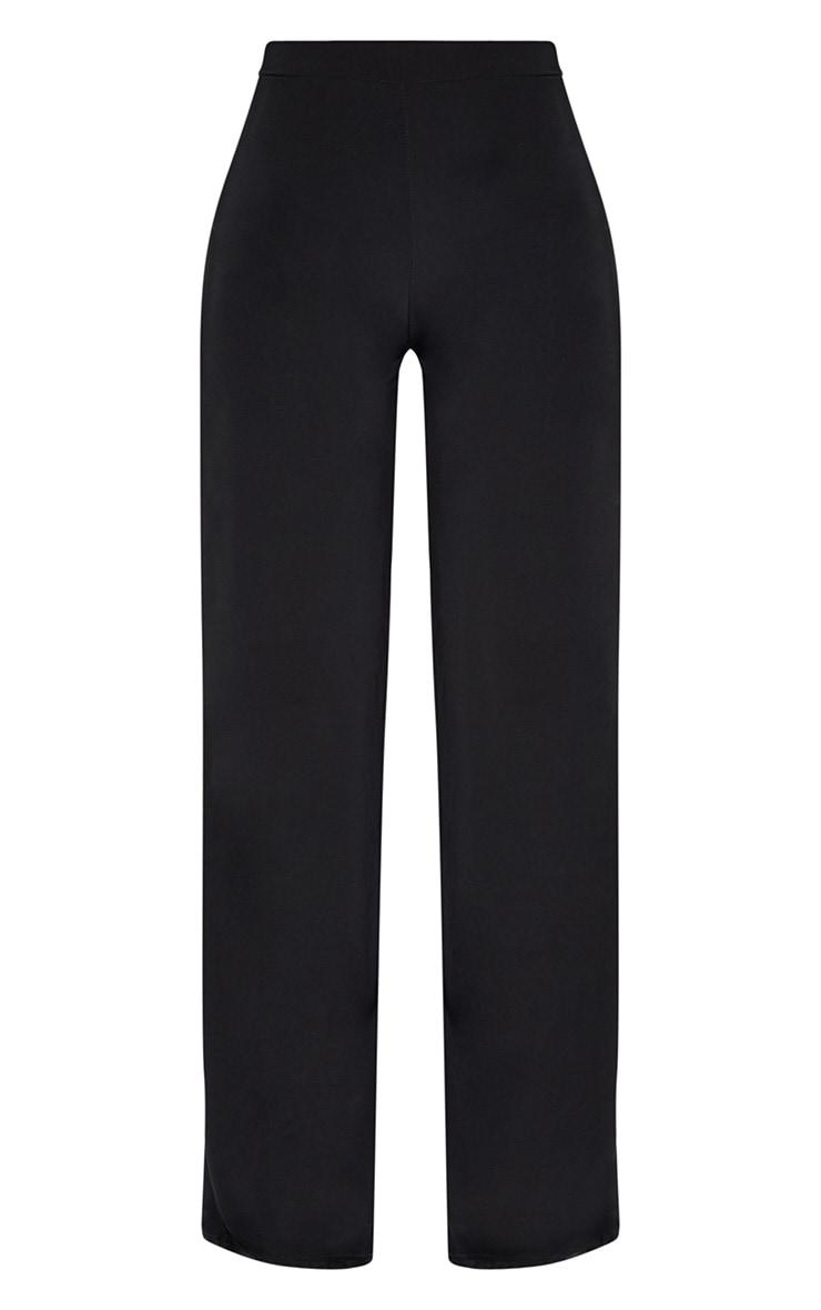 Shape Black Slinky High Waisted Wide Leg Trousers 3