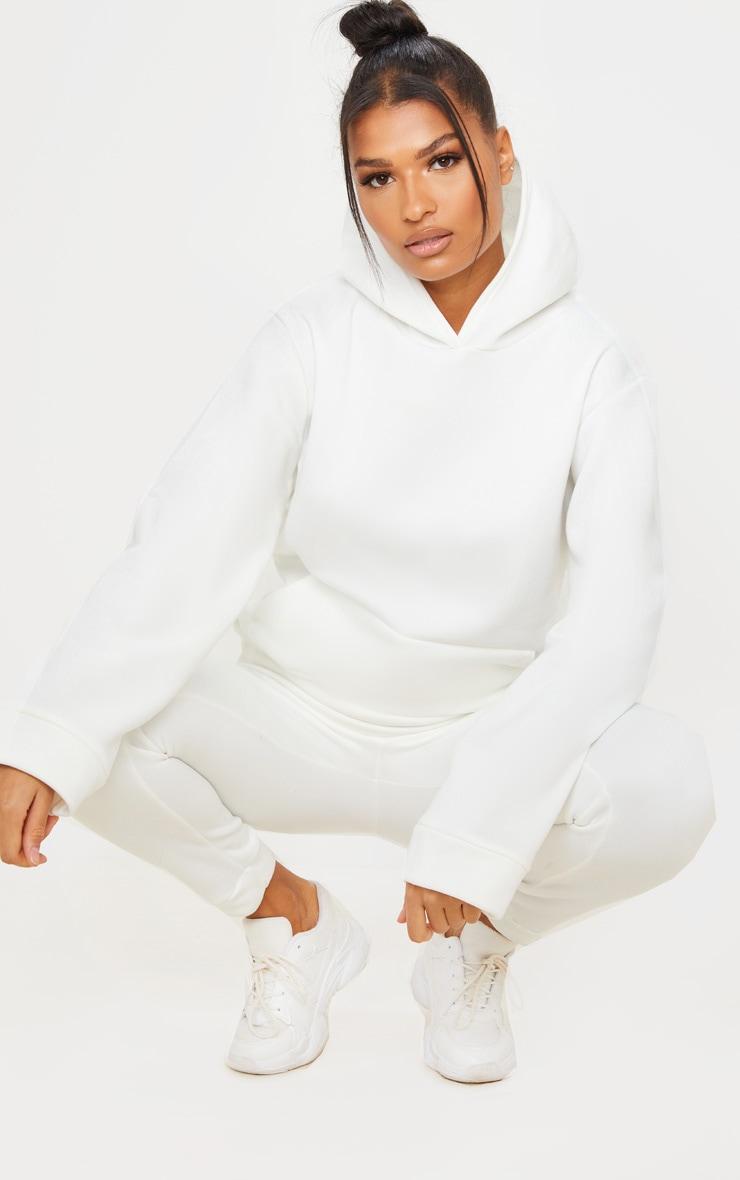 White Fleece Hoodie 3