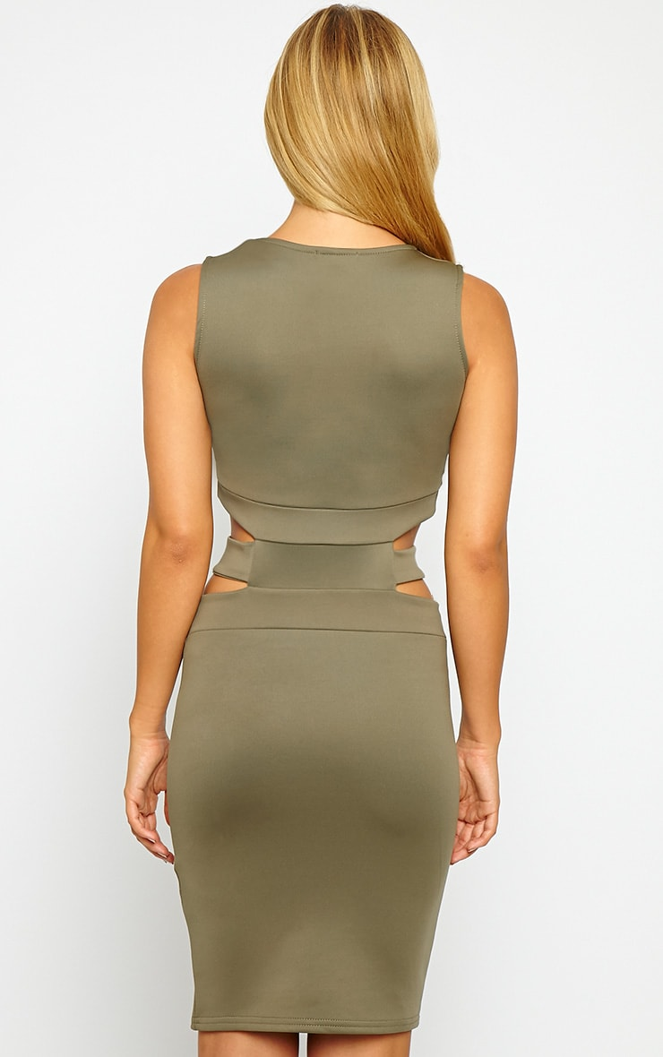 Belle Khaki Belted Mini Dress 2