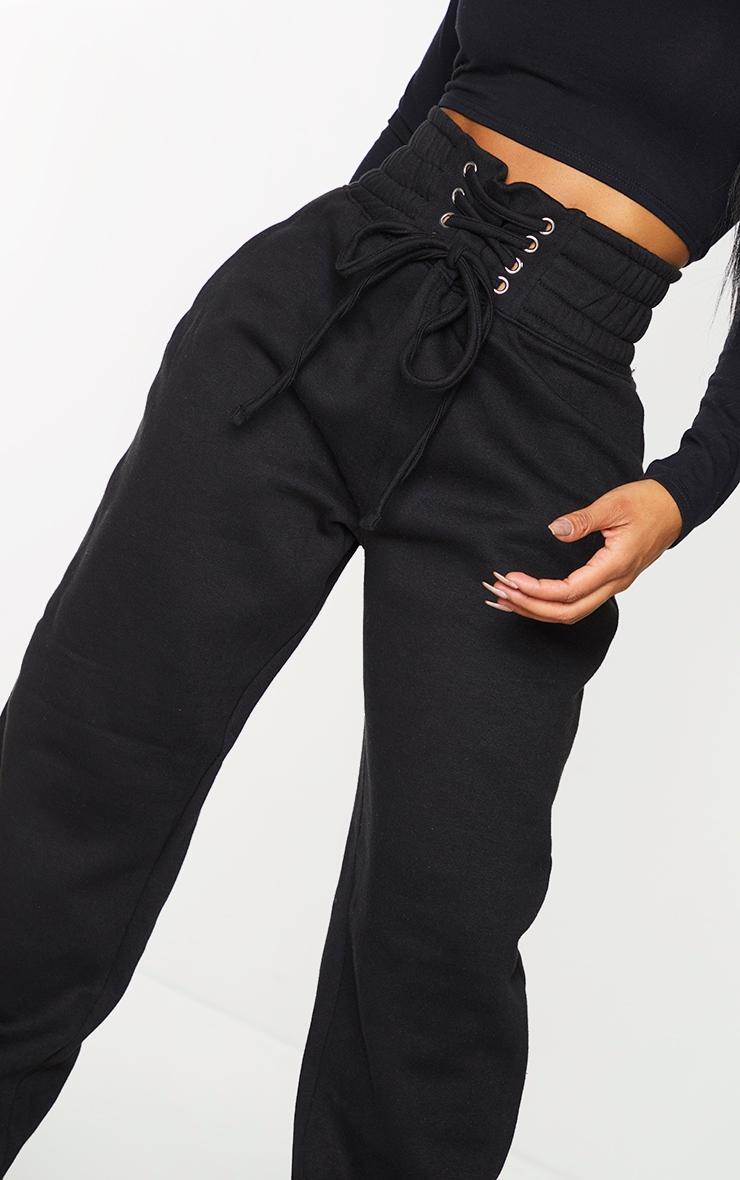 Shape - Jogging ample noir à taille style corset 4