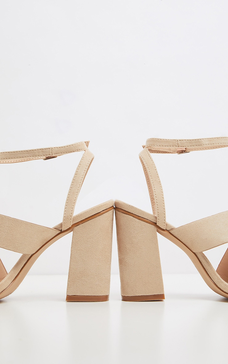 Nude Et Orteil Talon Bride Sandales Asymétriques À Bloc USqzMVp