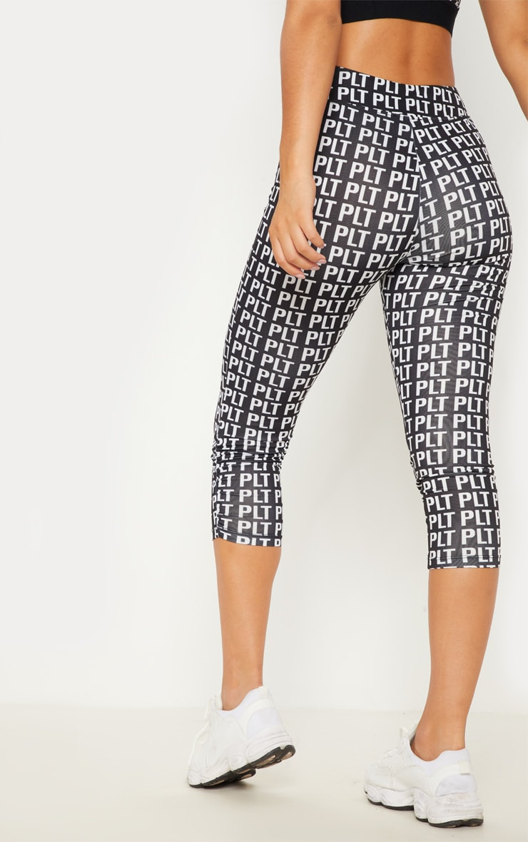 PLT Monochrome Ruched Detail Cropped Leggings 5