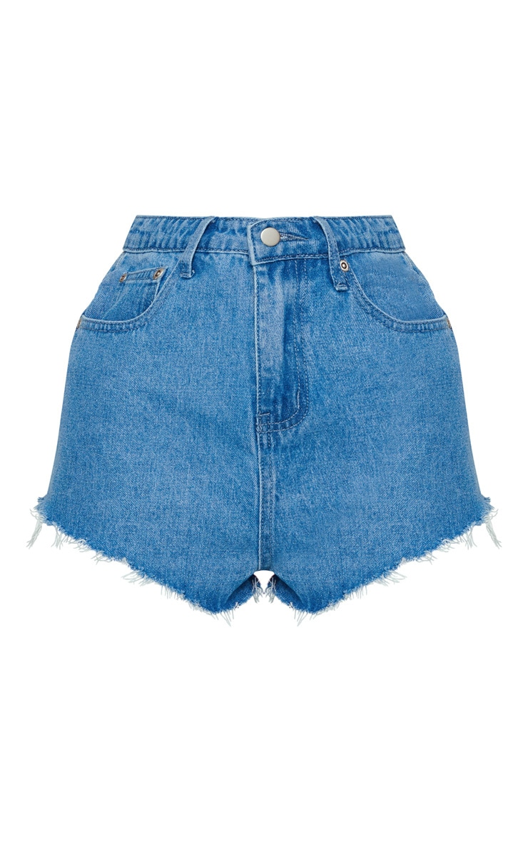 KARL KANI Vintage Wash Denim Shorts 4