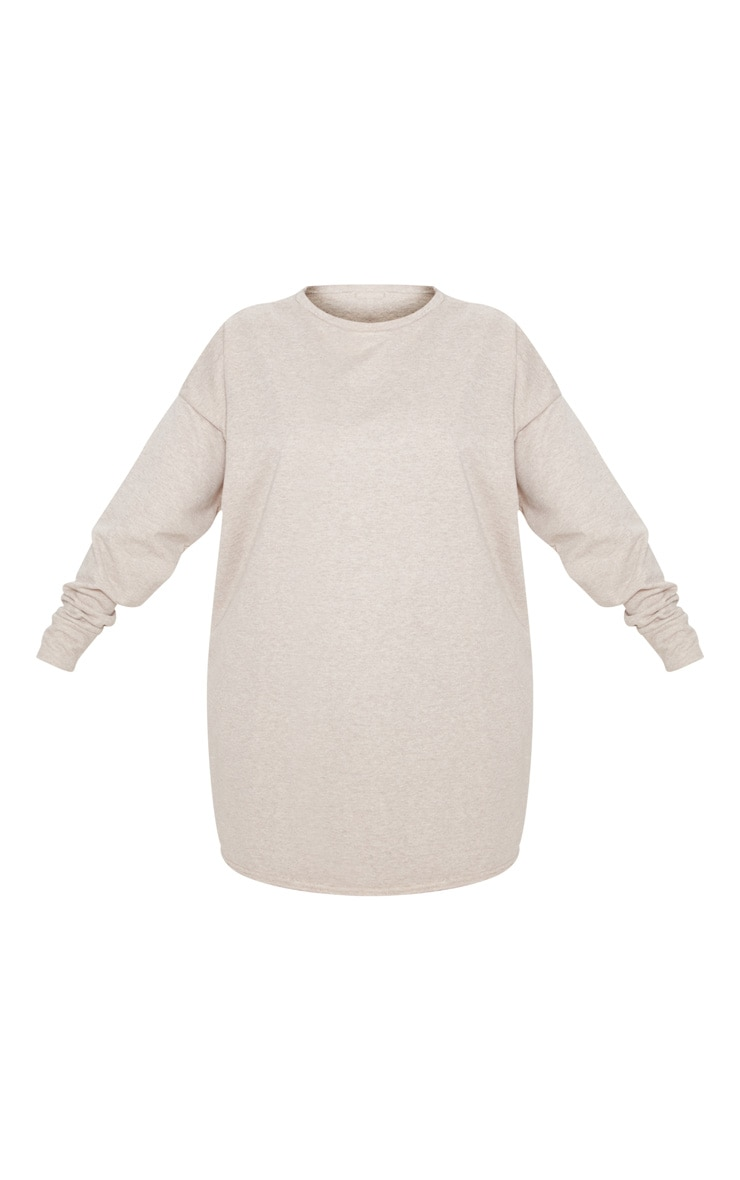 Plus Stone Oversized Sweater Dress 3