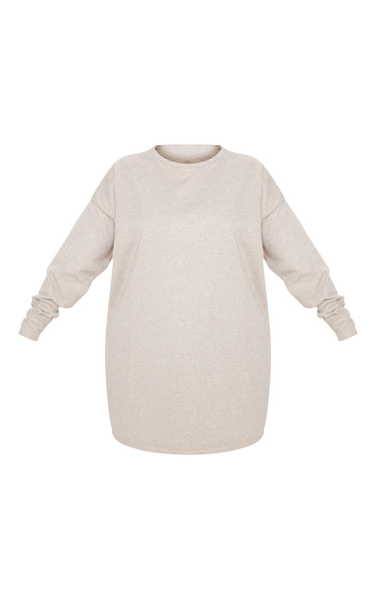 Plus Stone Oversized Sweater Dress 3