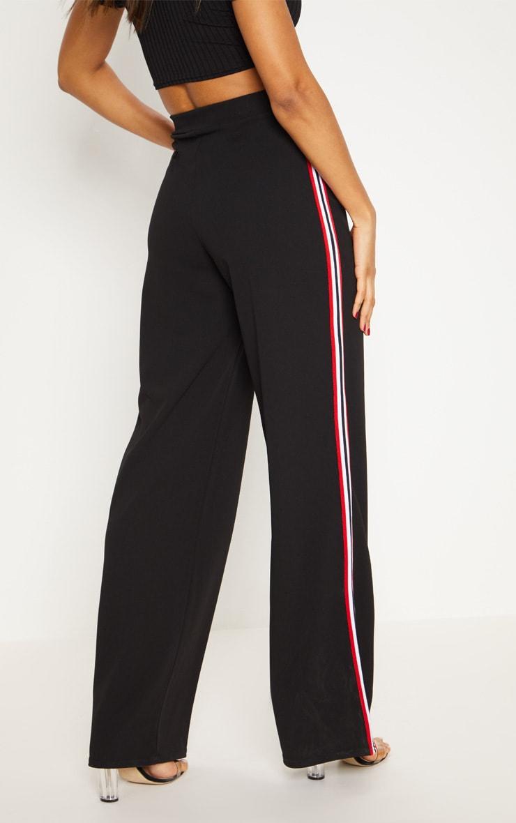 Black Tape Wide Leg Trouser 4