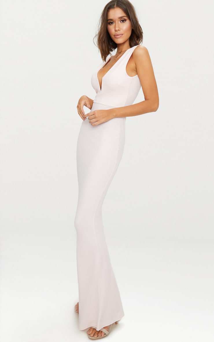 Nude V Bar Plunge Maxi Dress 4