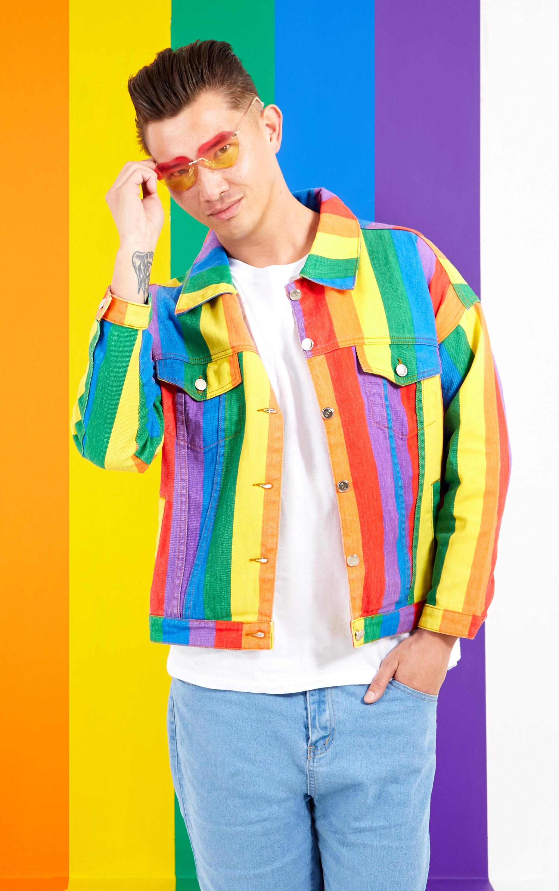 Multi Stripe Denim Jacket  2