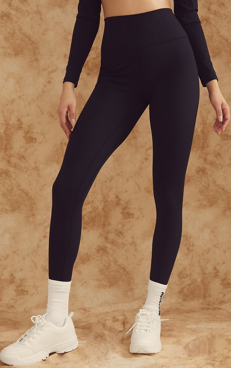 Black Sculpt Luxe High Waist Gym Legging 2