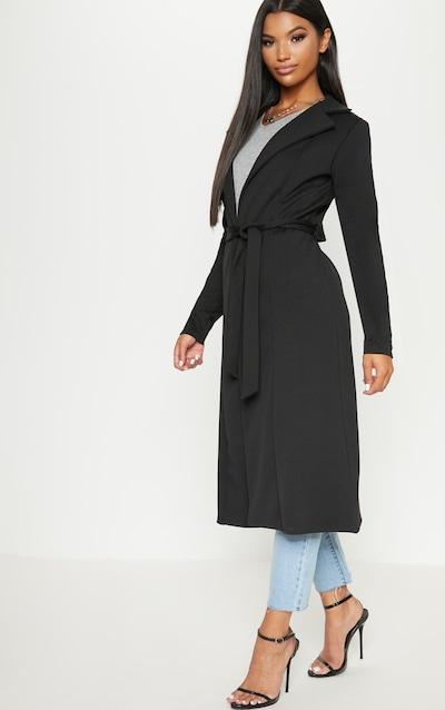 Longue veste noire en néoprène f45757fb1f57