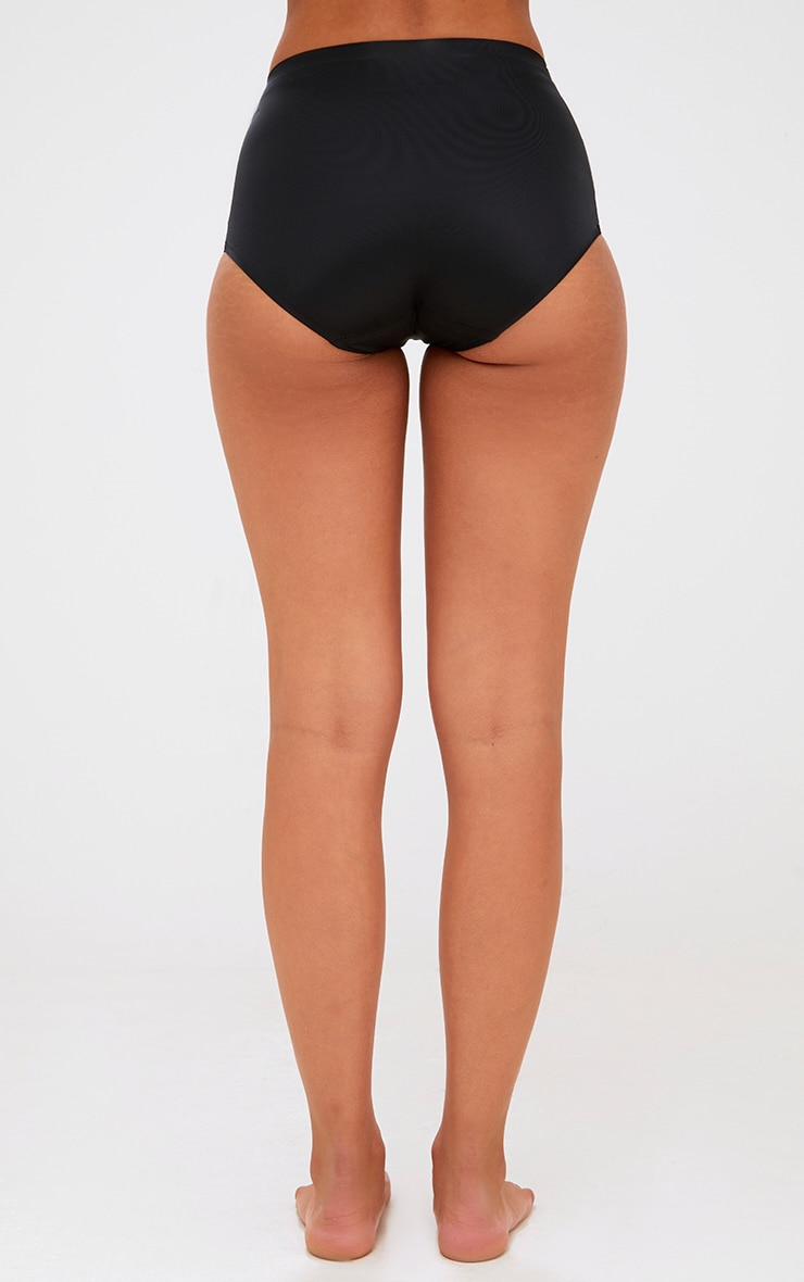 Black NO VPL Invisible High Waisted Knickers 4