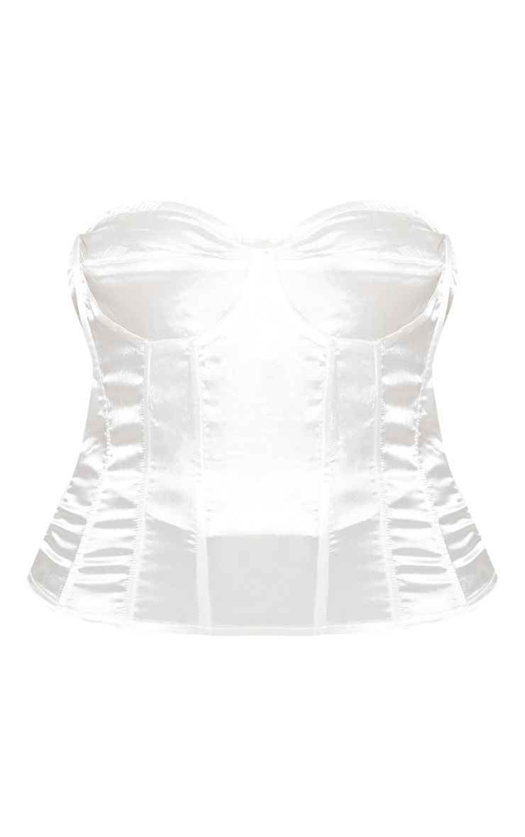 Plus White Satin Corset 3