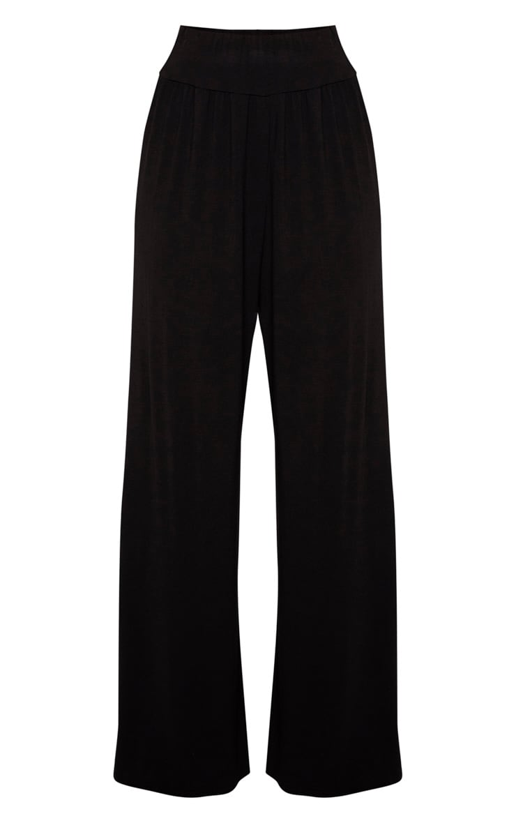 Tall Black High Waist Wide Leg Pants 3