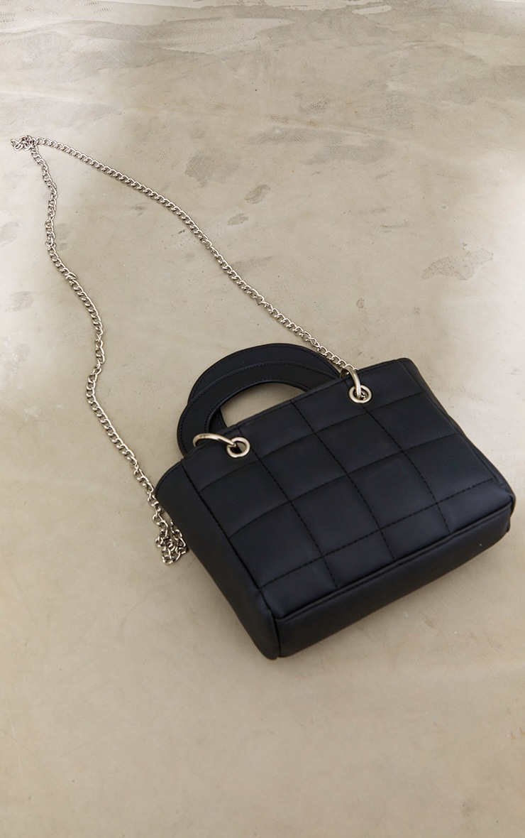 Black Quilted Mini Handbag 2