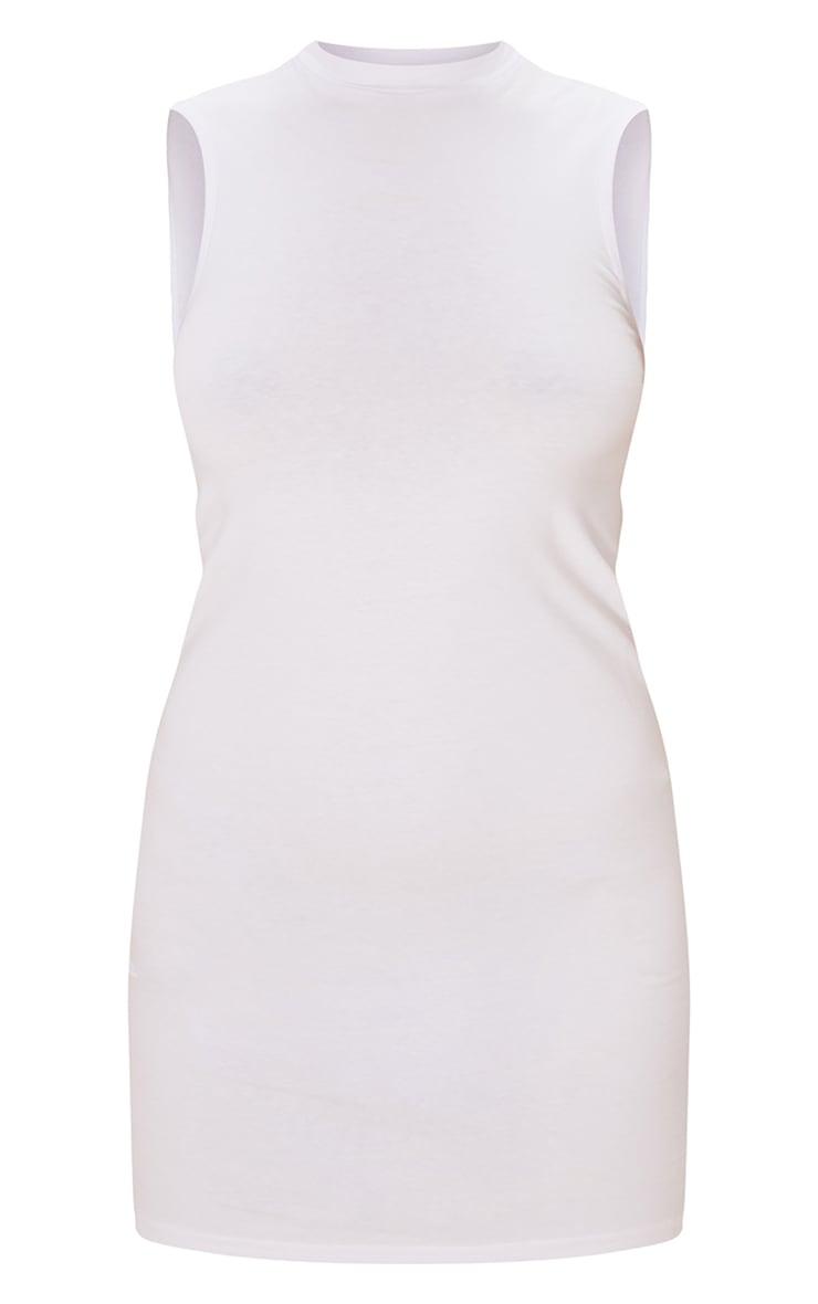 White Oversized Sleeveless T Shirt Dress 5