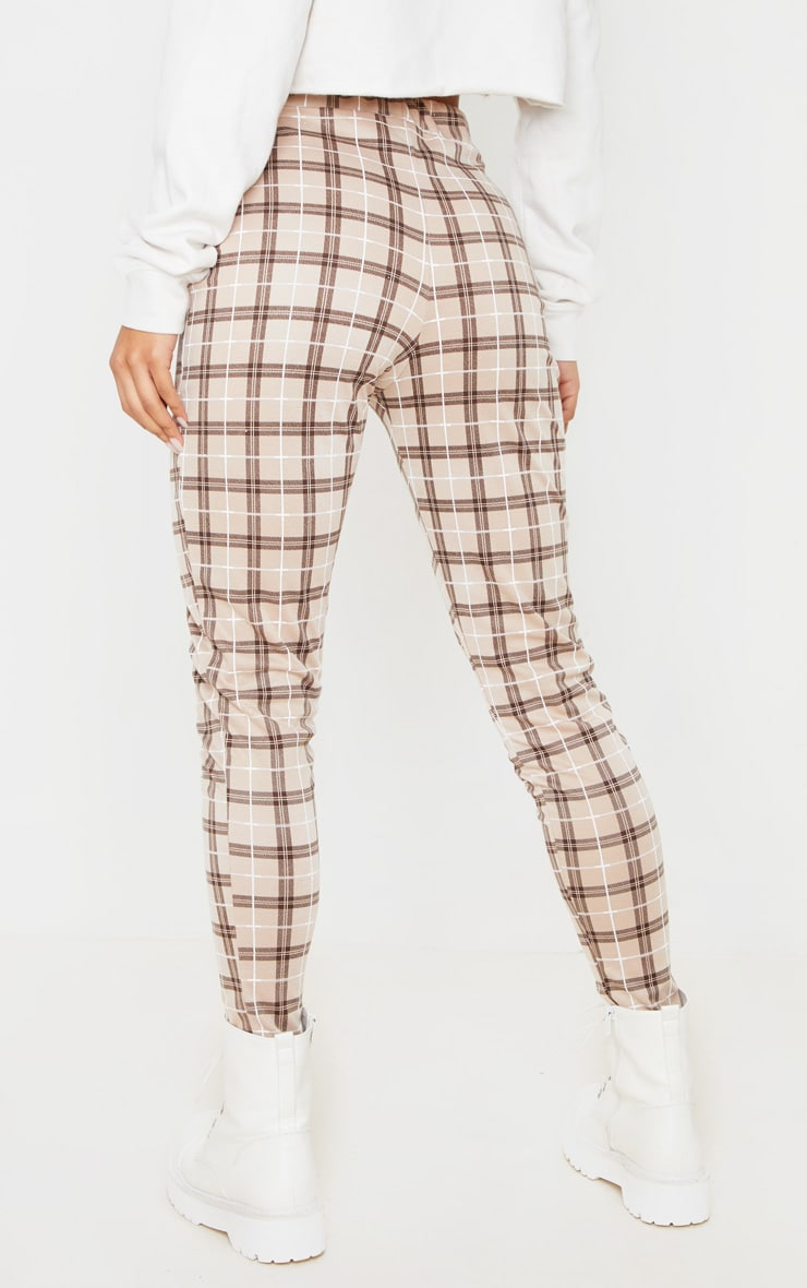 Stone Checked Cropped Skinny Pants 4