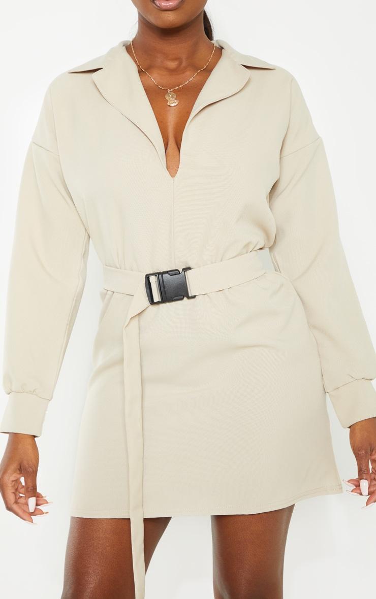 Petite Stone Belt Detail Cargo Shirt Dress 4