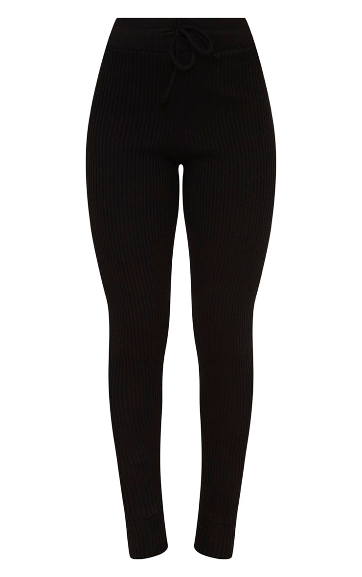 Black Knitted Rib Jogger Co Ord 6