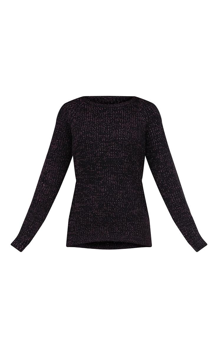 Black Lurex Knit Metallic Jumper 3