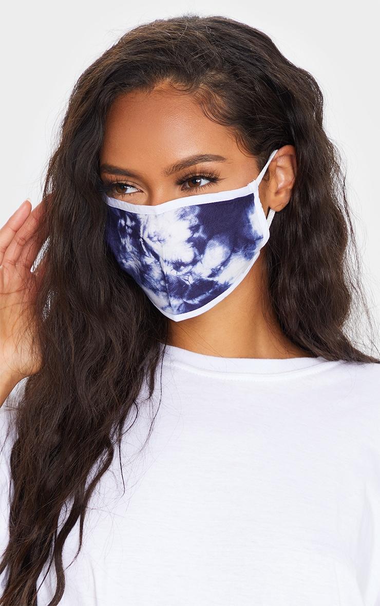 Blue Tie Dye Mask 1