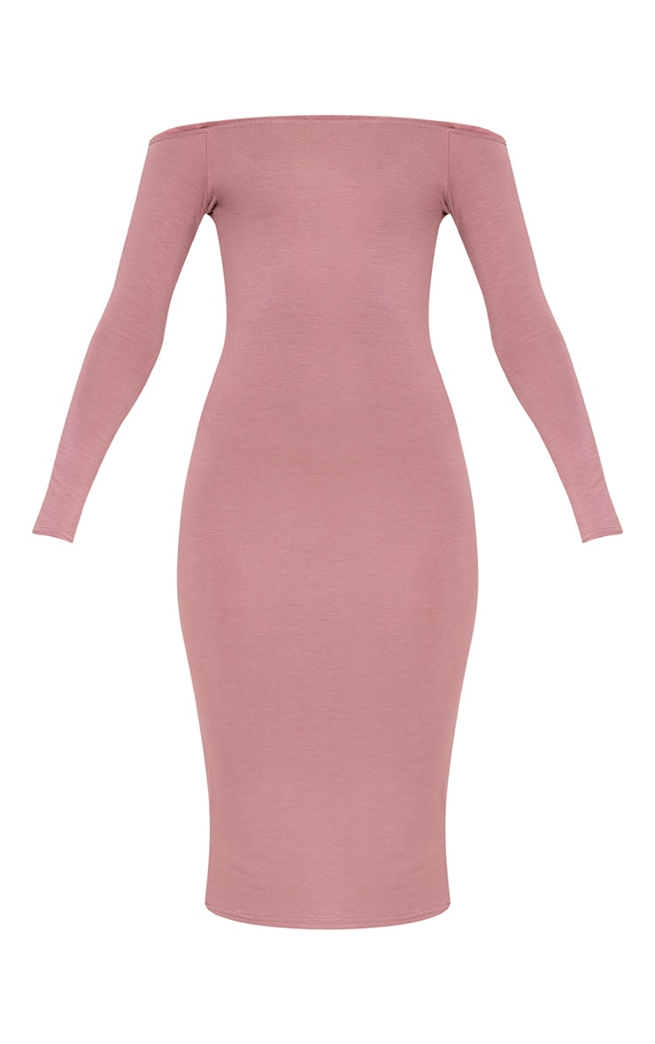 Basic Truffle Jersey Bardot Midi Dress 3