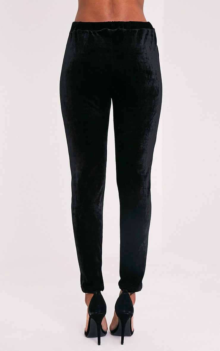 Evalyn pantalon cigarette noir en velours 5