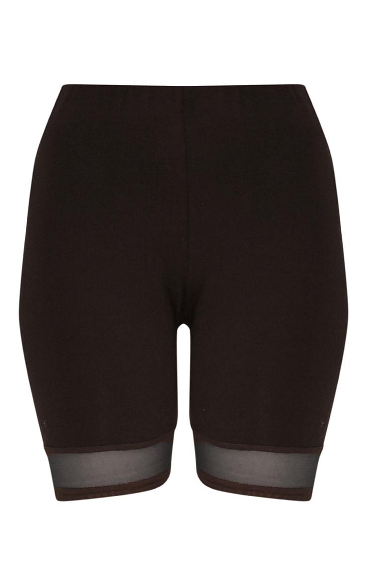 Cicley Black Mesh Hem Cycle Shorts 3