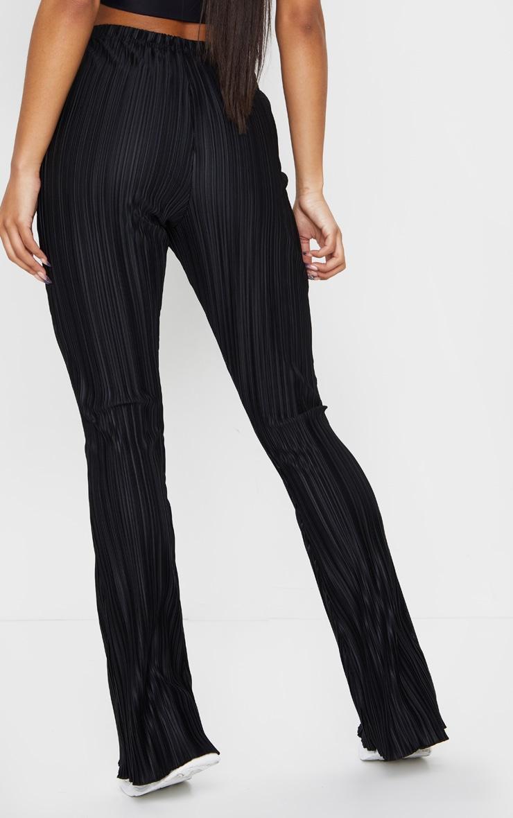 Black Plisse Flared Pants 3