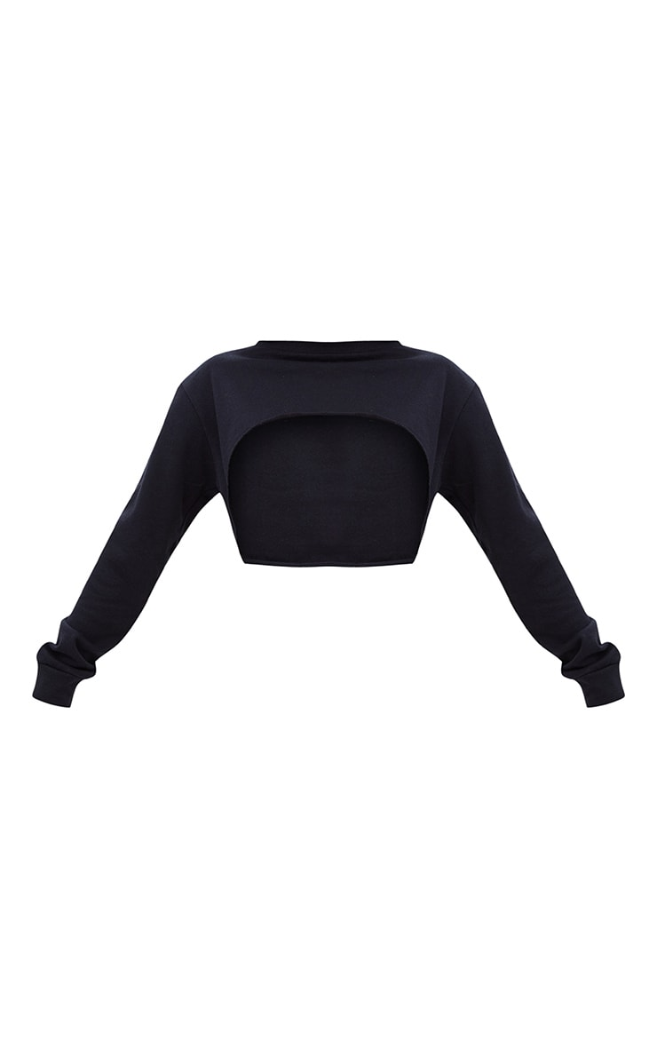 Shape Black Extreme Cropped Sweater 3