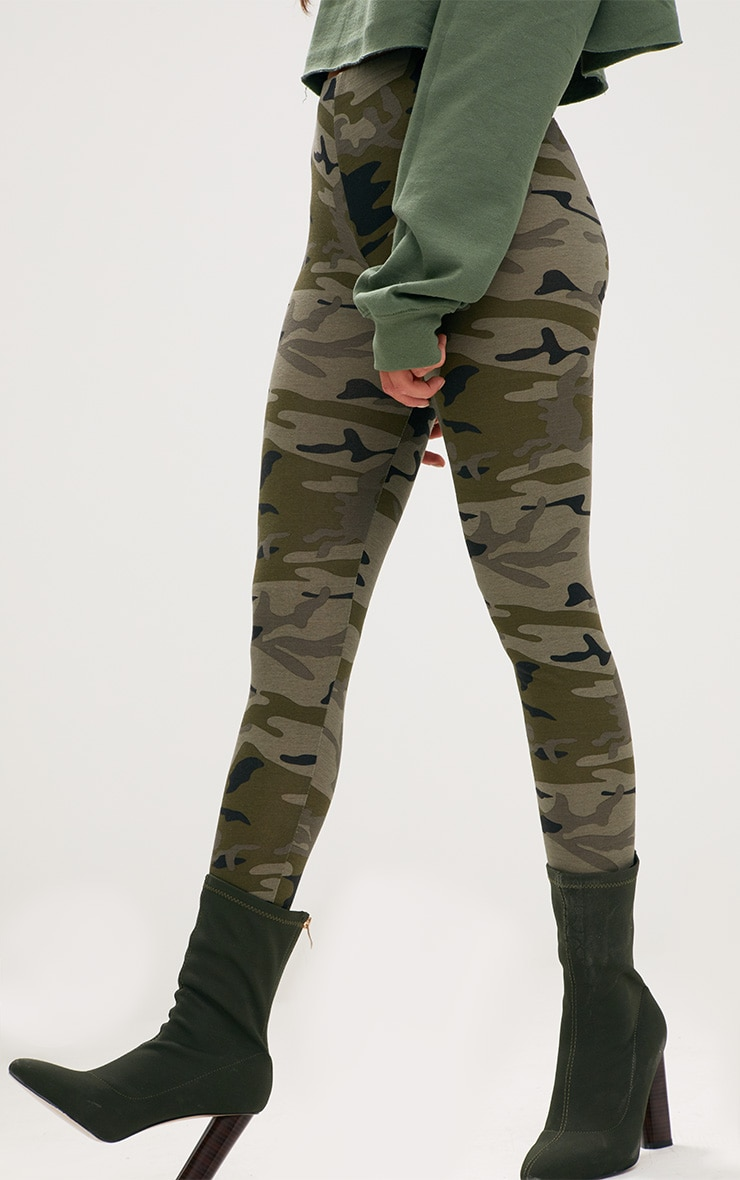 Khaki Camo Print Leggings 5
