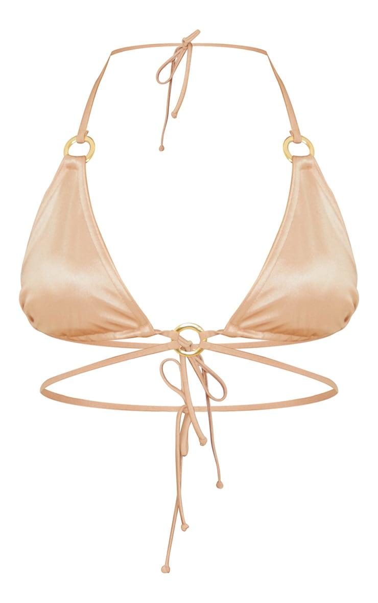 Rose Gold Metallic Wrap Around Bikini Top 5