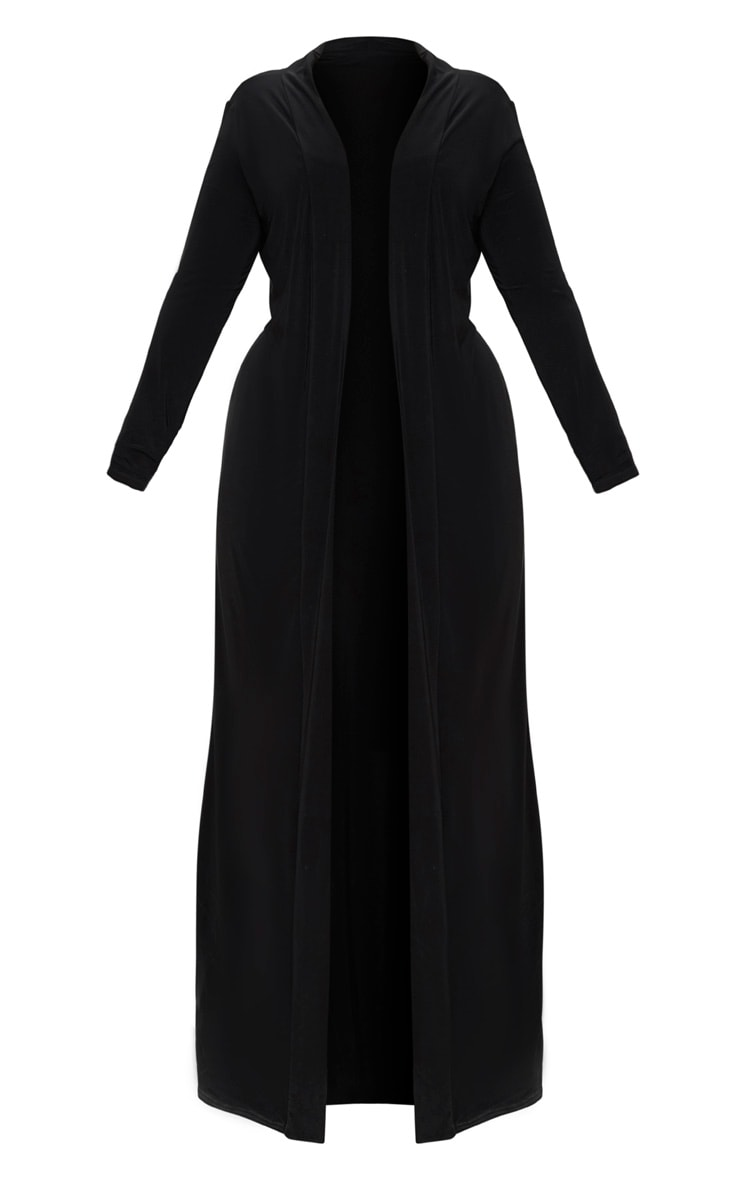 Plus Black Slinky Duster Jacket 3