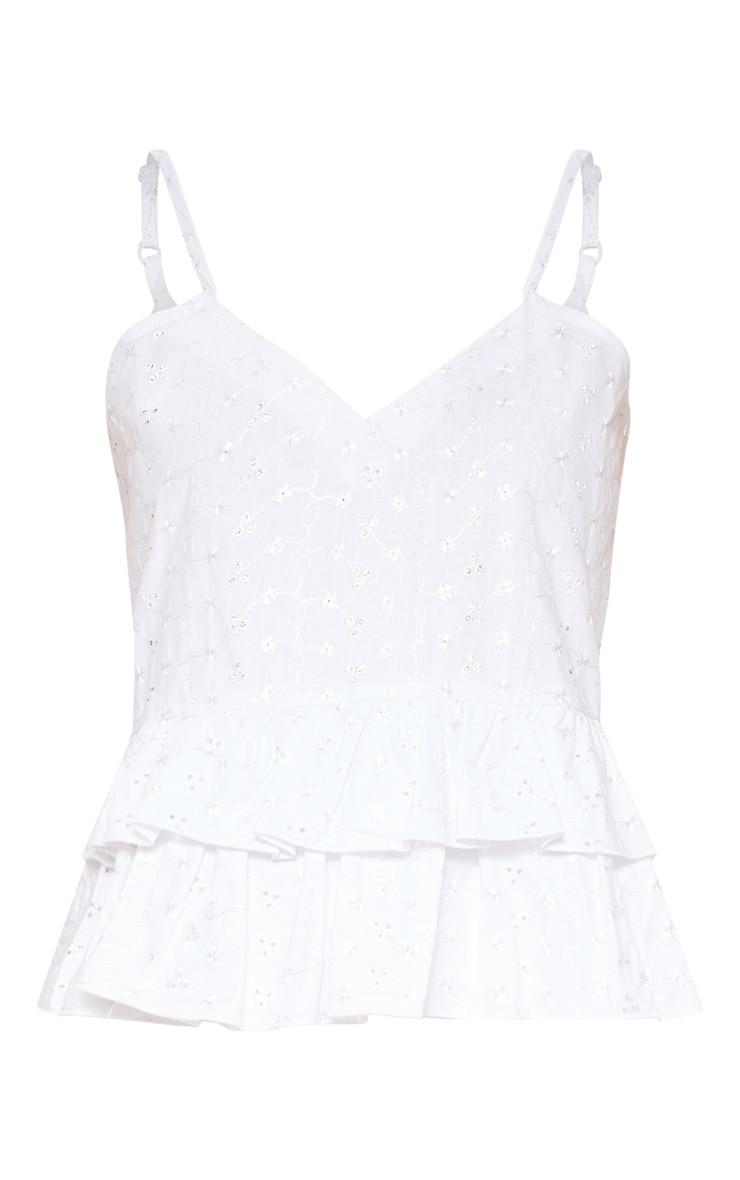 Plus White One Shoulder Flare Jumpsuit 3