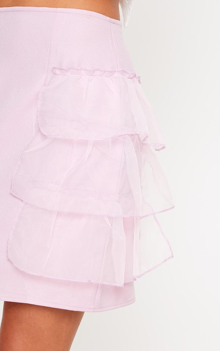 Lilac Tulle Tier Mini Skirt 5