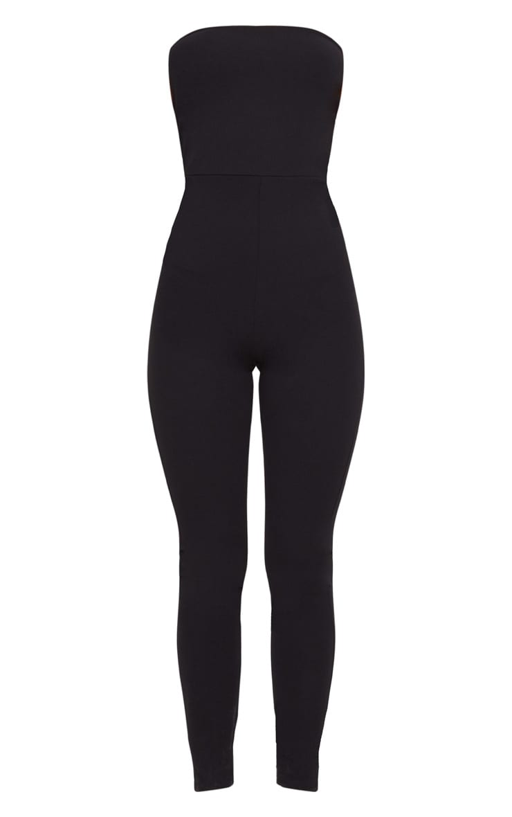 Black Bandeau Slim Leg Jumpsuit 3
