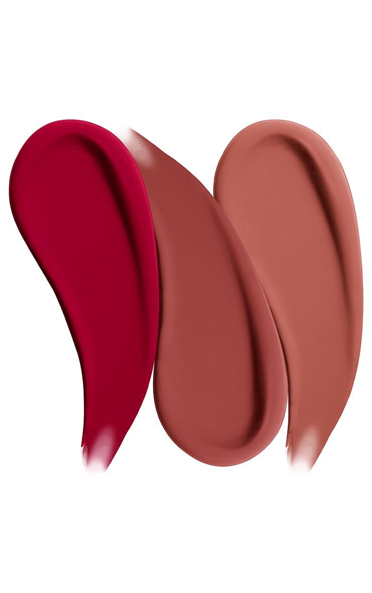 NYX Professional Makeup Gimme Super Stars! Matte Lipstick Trio Warm Berries Gift Set 3