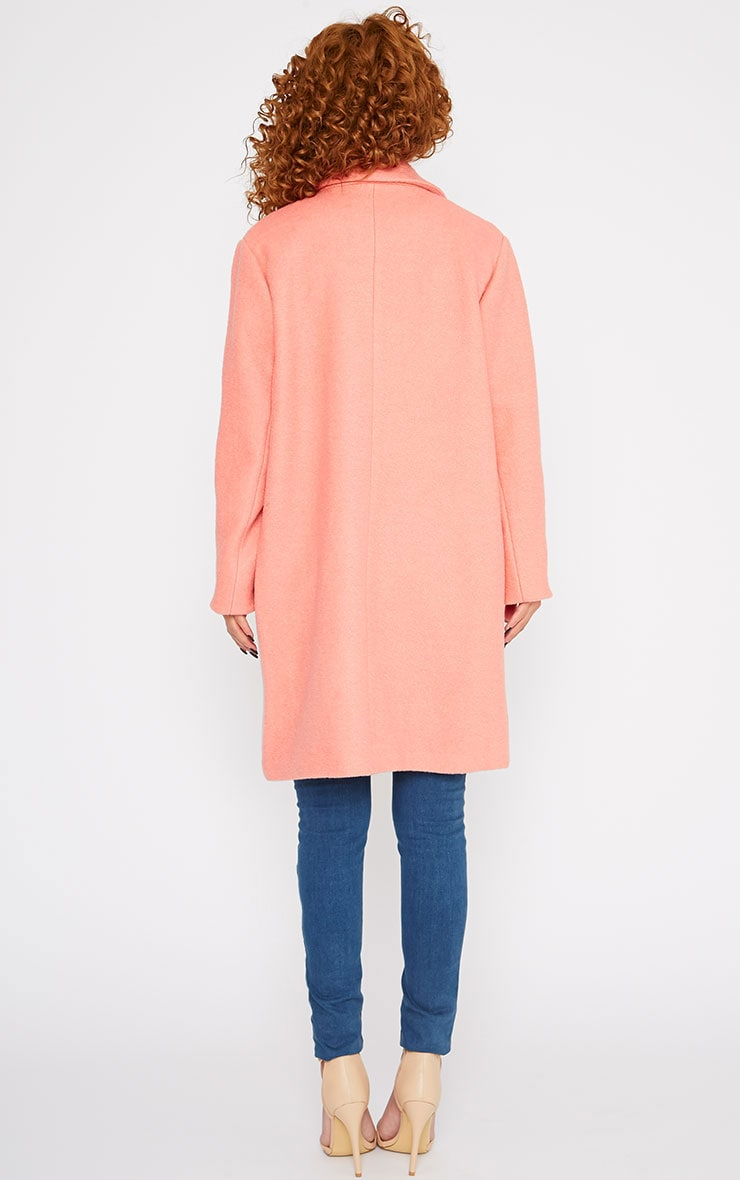 Tammy Coral Wool Coat 2