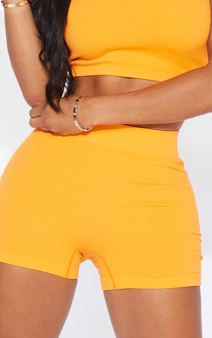 Shape Orange Contour Rib Shorts 5