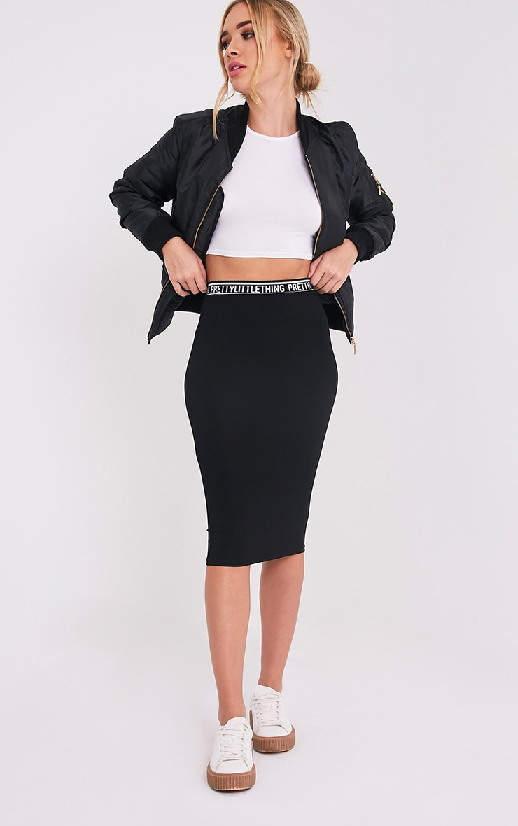 Jupe midi noire Pretty Little Thing 1