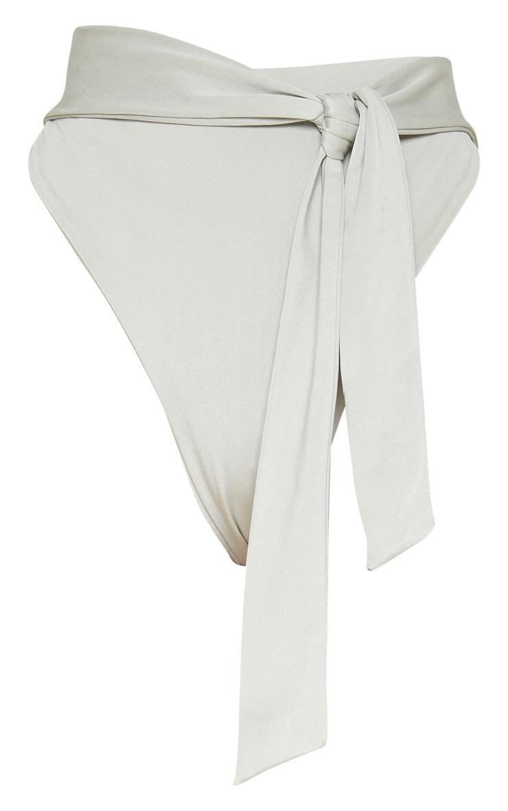 Sage Green High Tie Waist Bikini Bottom 7