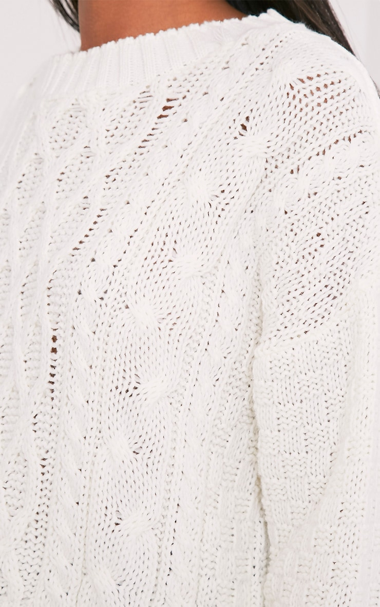 Chyanne Cream Cable Knit Jumper 6